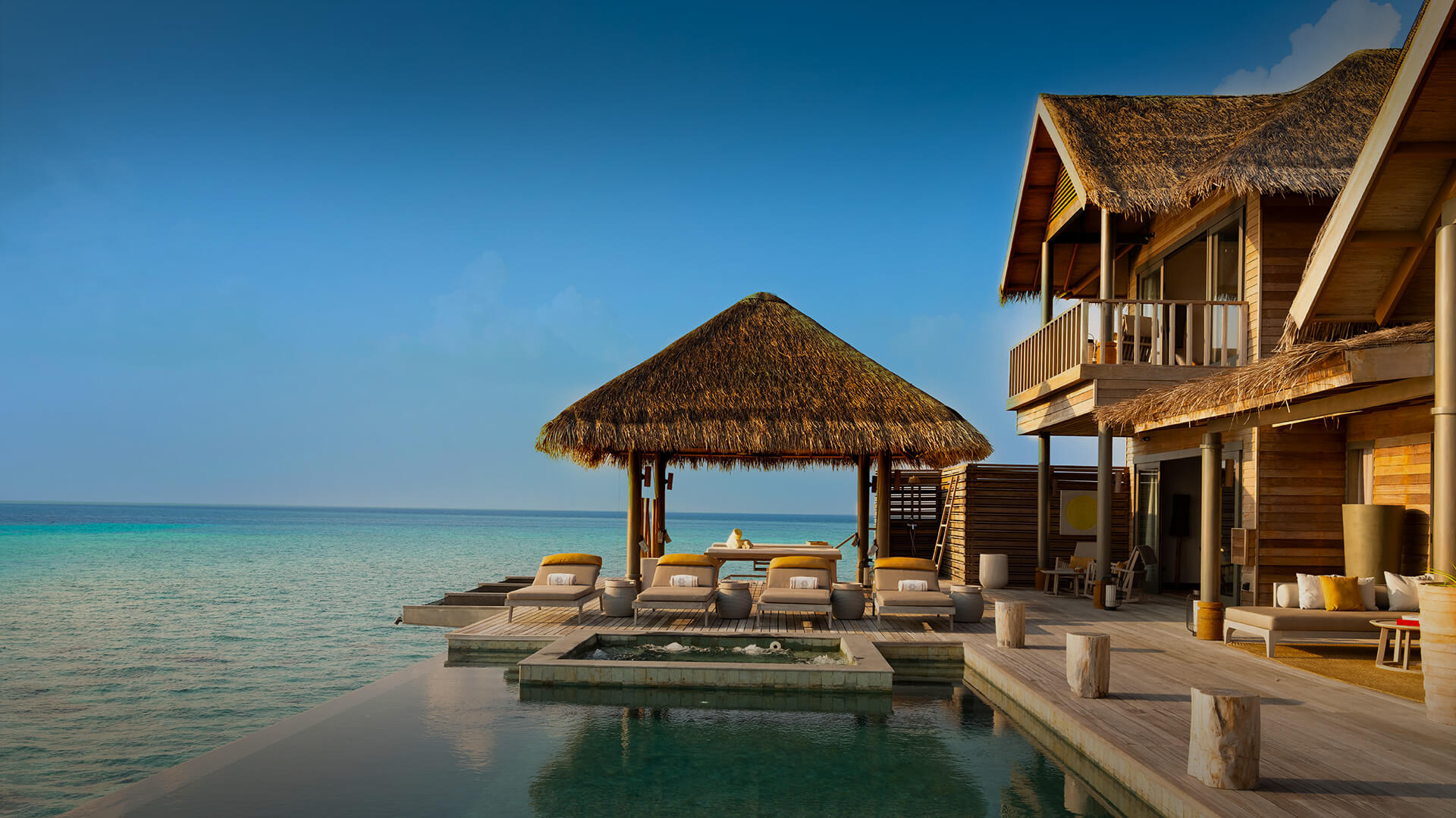 Two-story over water residence at Vakkaru Resort Maldives