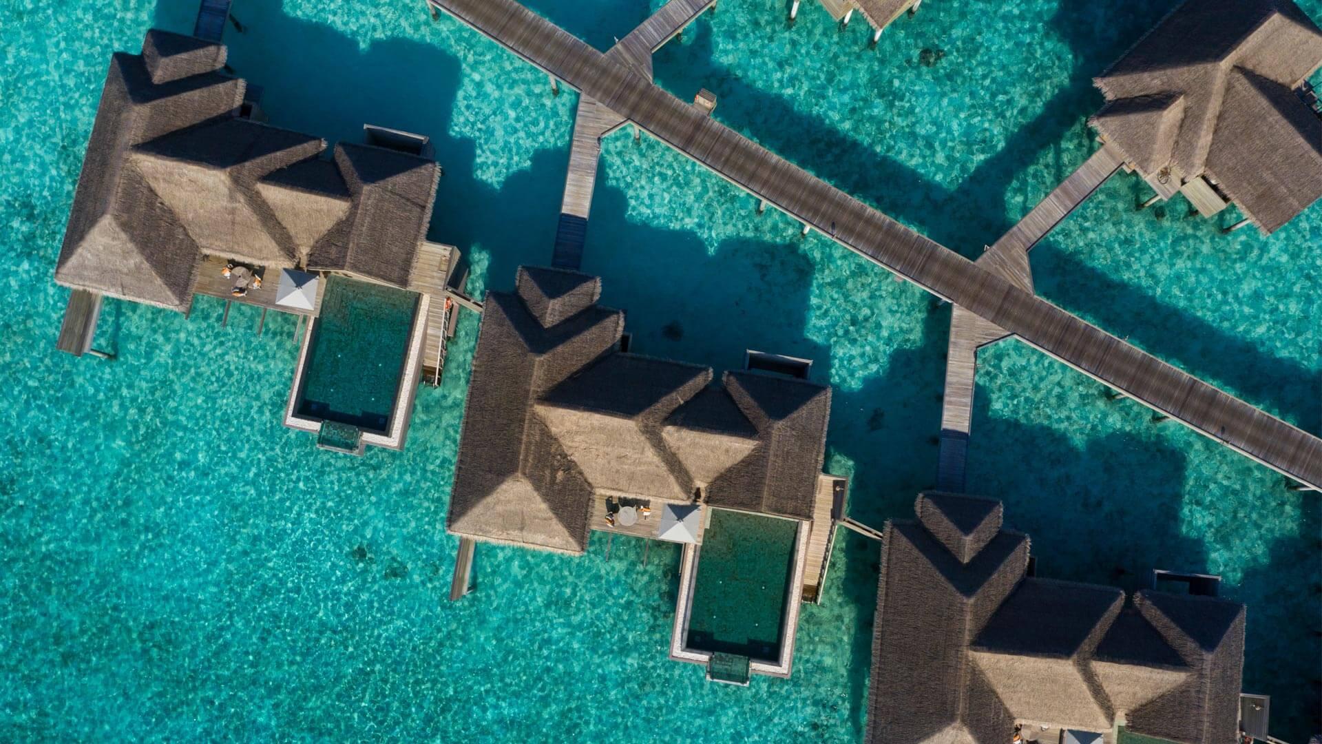 Over water family pool villa at Vakkaru Resort Maldives