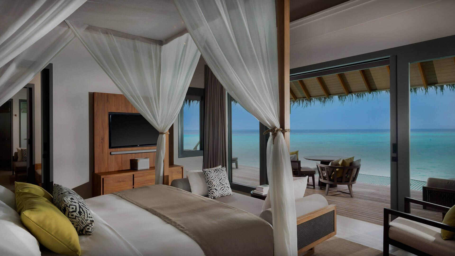 Over water villas at Vakkaru Maldives