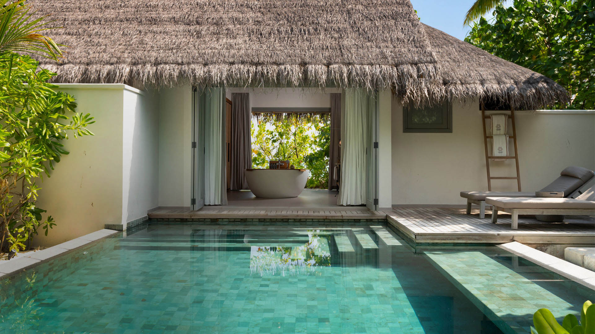 Vakkaru Maldives Beach Pool Retreat with a private pool and sundeck