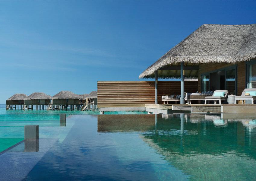 Over water pool retreat at Vakkaru Maldives