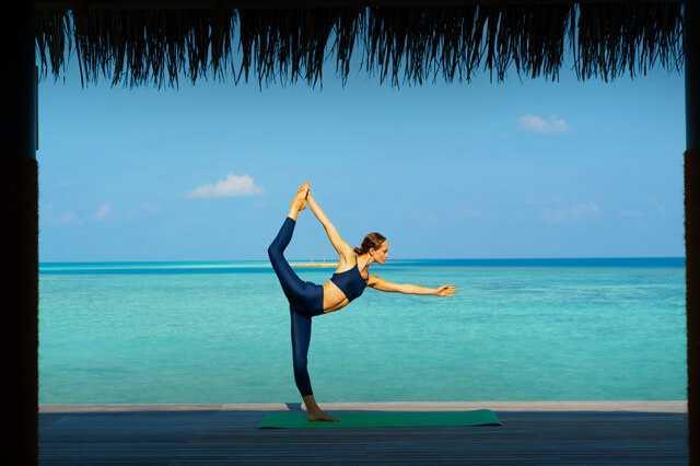 Lady performing Yoga
