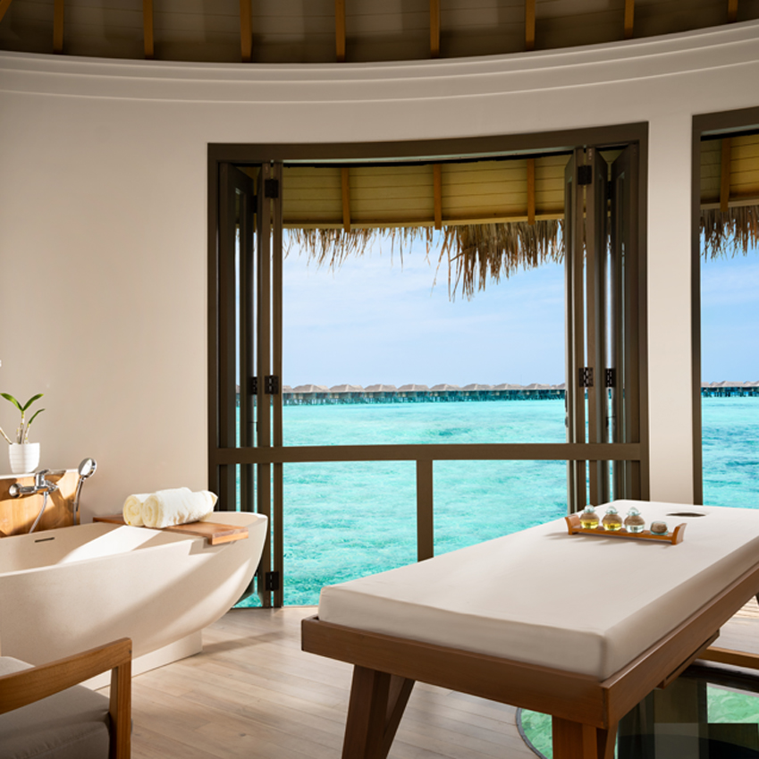 Over water Spa with ocean view