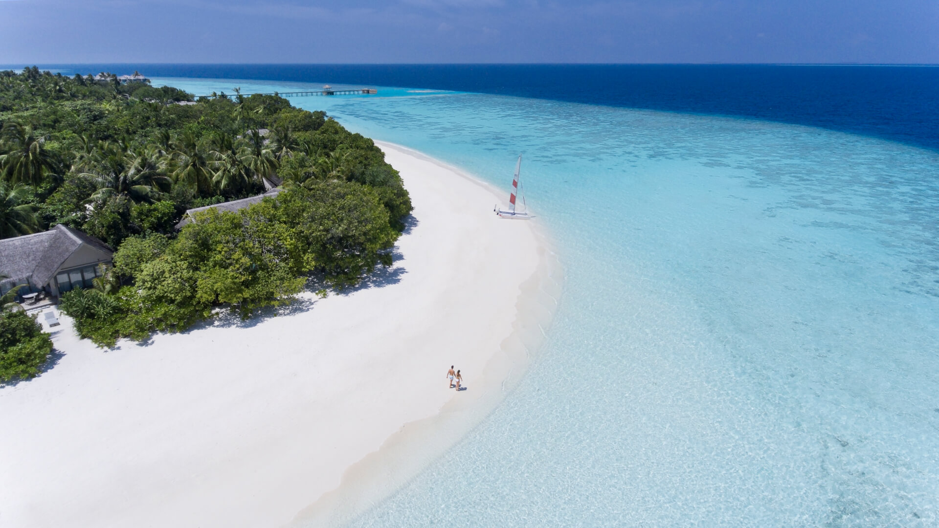 Birds eye view of Vakkaru Maldives