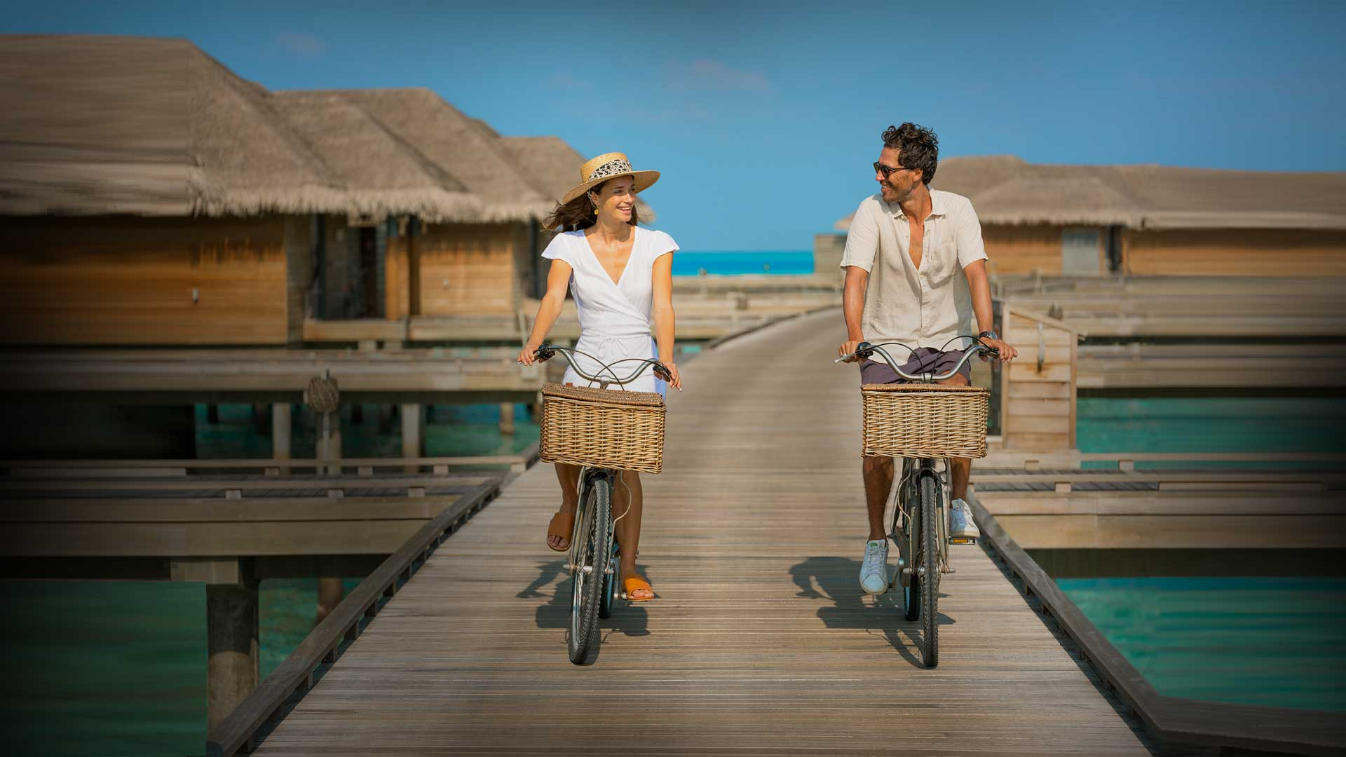 Couple Ridding bicycles
